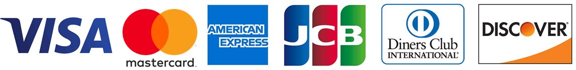 visa mastercard amerivcan express jcb diners club discover